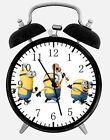 "Funny Minions Alarm Desk Clock 3.75"" Room Office Decor E48 Will Be a Nice Gift"