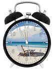"Beach Scenery Alarm Desk Clock 3.75"" Room Office Decor E61 Will Be a Nice Gift"