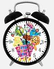 "Shopkins Alarm Desk Clock 3.75"" Room Office Decor E68 Will Be a Nice Gift"