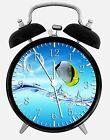 "Tropical Ocean Fish Alarm Desk Clock 3.75"" Room Office Decor W35 Nice For Gift"