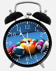 "Pool Billiards Cue Alarm Desk Clock 3.75"" Room Office Decor E308 Nice For Gift"