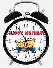 "Minions Birthday Gift Alarm Desk Clock 3.75"" Room Office Decor E310 Nice Gift"