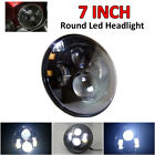 7'' INCH Round LED Headlight H4 Black Projector DRL For JEEP WRANGLER HARLEY