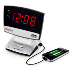 Westclox USB Charging Alarm Clock With Snooze Digital Red LED Display NEW