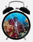 "Tropical Ocean Fish Alarm Desk Clock 3.75"" Room Office Decor W150 Nice For Gift"