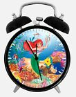 "Little Mermaid Ariel Alarm Desk Clock 3.75"" Home or Office Decor W152 Nice Gift"