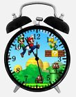 """Super Mario Game Alarm Desk Clock 3.75"""" Home or Office Decor W164 Nice For Gift"""
