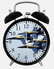 "Blue Angels F-18 Alarm Desk Clock 3.75"" Home or Office Decor W240 Nice For Gift"
