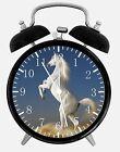 "White Horse Alarm Desk Clock 3.75"" Home or Office Decor W417 Nice For Gift"