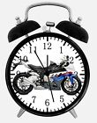"BMW Motorcycle Alarm Desk Clock 3.75"" Home or Office Decor W420 Nice For Gift"