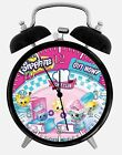 "Shopkins Alarm Desk Clock 3.75"" Home or Office Decor E485 Nice For Gift"
