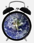"""Earth Alarm Desk Clock 3.75"""" Home or Office Decor W285 Nice For Gift"""