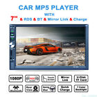 7 Inch HD Touch Screen 2 Din Car MP5 Player Bluetooth Stereo Video + Rear Camera
