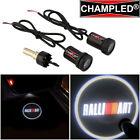 LED Light Logo Emblem symbol sign badge Under Door Step courtesy car RALLI ART