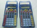 Lot of (2) Texas Instruments TI-15 Calculators w/ Covers & Reference Cards