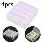 Portable Hard Plastic Battery Case Holder Storage Box 4x18650 Batteries 4 Pack