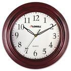 "Lorell 13-1/4"" Woodgrain Wall Clock - Quartz"