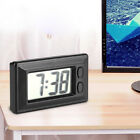Small Black Electric Digital LCD Clock Date Time Calendar Ultra-thin Car Clock