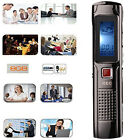 8GB Digital Sound Recorder Audio Voice WMA/MP3 Player Rechargeable Dictaphone