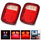 2X Red White 16 LED Truck Trailer for Jeep JK TJ CJ Stop Turn Signal Tail Light