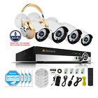 Outdoor HD 1080P 4CH Bullet  POE ONVIF Security IP Camera Audio System IR Night