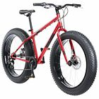 """Mongoose Men's Dolomite 26"""" Wheel Fat Tire Bicycle, Red, 18"""" Frame Size"""