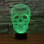 Night Light Creative Design Skull Head 3D Gradient Color Optical Illusion Decor
