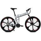 "26"" Mountain Bike Folding Bicycle Snow Sand Bike 21 Speed MTB SHIMANO Disc Brake"