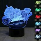 Desk Lamp Motorcycle 3D Decor Acrylic Night light LED lamp Furniture Decorative