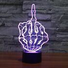 Night Light Erect Middle Finger 3D Lamp Bedroom Multi 7 Color Change Night Light