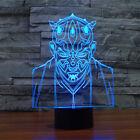3D Illusion Lamp Jedi Knight Shapes 7 Colors Amazing Optical Led Lamp for Decor