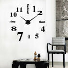 DIY 3D Large Number Mirror Wall Clock Sticker Decor for Home Office Room