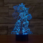 Night Light Transformers 3D Table Lamp Optical Illusion Bulbing 7Colors Changing