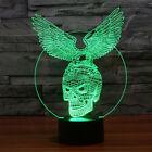 LED USB Powered 7 Colors Eagle Diao skeleton 3D Glow  Lamp Art Sculpture Lights