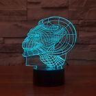LED 3D Lamp Horned Human Head Shapes 7 Colors Amazing Optical Illusion Led Lamp
