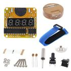 Digital Watch Electronic Clock Kit Single-Chip LED Display w/ Transparent Cover