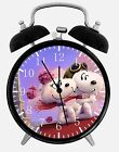 """Snoopy and Fifi Alarm Desk Clock 3.75"""" Home or Office Decor E287 Nice For Gift"""