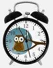"Cute Owl Alarm Desk Clock 3.75"" Home or Office Decor E295 Nice For Gift"
