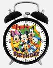 "Mickey Minnie Alarm Desk Clock 3.75"" Home or Office Decor E269 Nice For Gift"