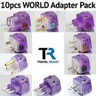 10 Pack UNIVERSAL WORLD TRAVEL ADAPTER PLUG Multi Kit Set for EUROPE AFRICA ASIA