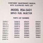 Bendix RSA-5AD1 Servo Fuel Injector Component Maintenance & Parts Manual