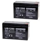 UPG 12V 8Ah SLA Battery Replacement for Global Yuasa ES612 - 2 Pack