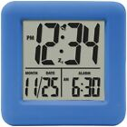 Equity By La Crosse Soft Cube Lcd Alarm Clock (blue) New