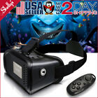 "3D VR Headset Glasses Virtual Reality For 3.5- 6.0"" iPhone/Android + Controller"
