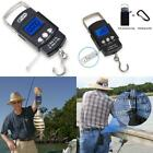 Digital Fishing Scale LCD Luggage Weight Hanging Hook 110lb with Measuring Tape