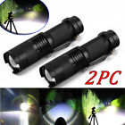 2pcs 3.7V Mini Zoomable LED Rechargeable Flashlight Torch Light Super Bright