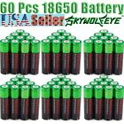60pcs 3.7v NCR18650 Rechargeable Batteries Li-ion For Flashlight  Battery18650 ≠