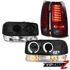 99-02 Sierra C3 Red smoke rear smd brake lights signal lamp projector headlights