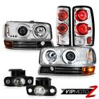 Headlights CCFL Angel Eye Bumper TailLight LED fogLights 2000-2006 Yukon XL 5.3L