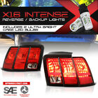!CREE LED REVERSE! Tail Lights Lamps Pair Replacment For 1999-2004 Ford Mustang
